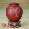 1984 Yixing Fang Yuan Brand Red Clay Grape Tea Canister