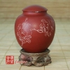 1984 Yixing Fang Yuan Brand Red Clay Orchids Tea Canister